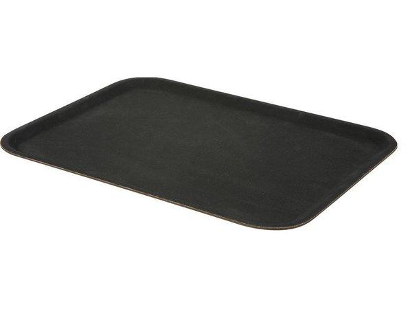 Hendi Tray Black Rectangle | Fiberglass reinforced polyester | Non-slip coating | 200x280 mm