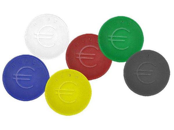 Hendi Consumptiemunten Zwart - ABS Kaart 100 - 2mm dik