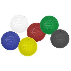 Hendi Consumptiemunten Wit - ABS Kaart 100 - 2mm dik