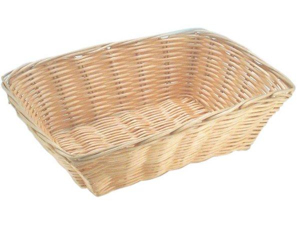 Hendi Bread Basket Rectangular - Poly Rattan - 230x150x (h) 70mm