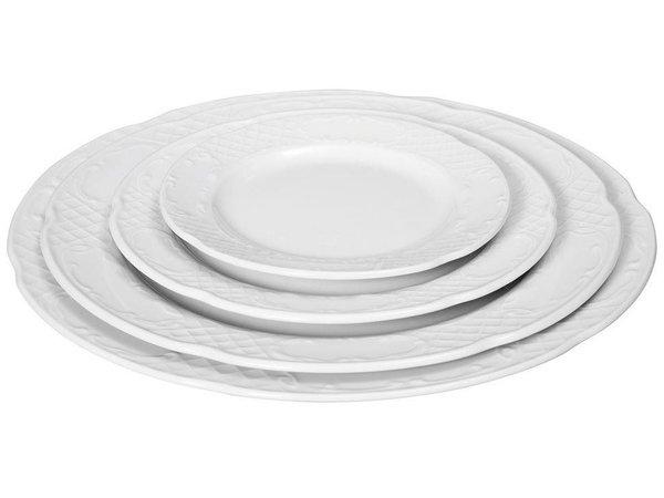 Hendi Foren-Flach - 160x18 mm - Flora - Weiß - Porzellan