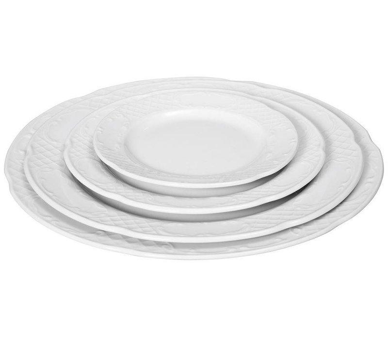 Hendi Board flat - 160x18 mm - Flora - White - Porcelain