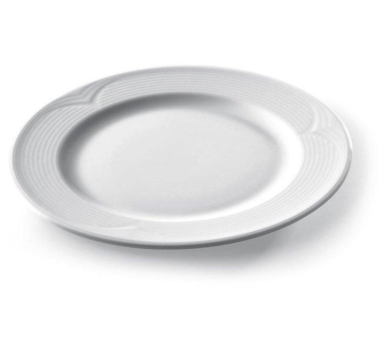Hendi Foren-Flach - 200x20 mm - Saturn - Weiß - Porzellan