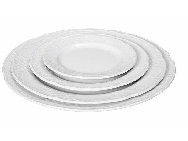 Hendi Foren-Flach - 200x21 mm - Flora - Weiß - Porzellan