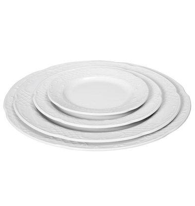 Hendi Foren-Flach - 250x22 mm - Flora - Weiß - Porzellan
