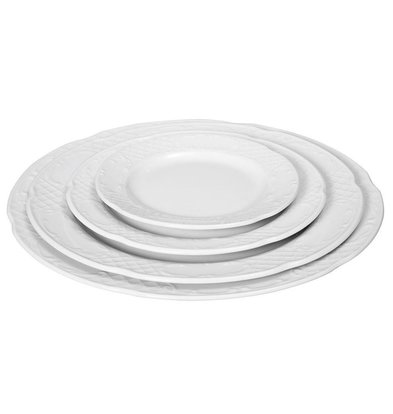 Hendi Foren-Flach - 300x28 mm - Flora - Weiß - Porzellan