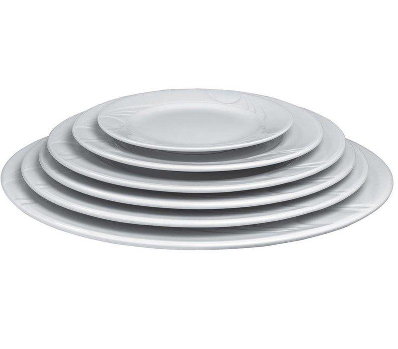 Hendi Foren-Flach - 320x27 mm - Karizma - Weiß - Porzellan