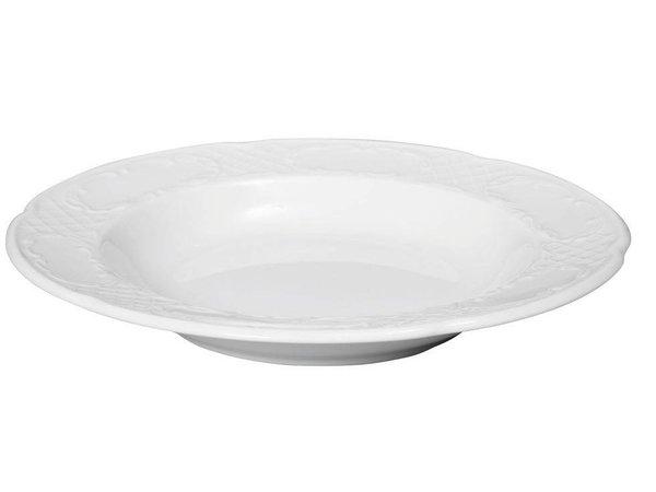 Hendi Vorstand tief - 240x37 mm - Flora - Weiß - Porzellan