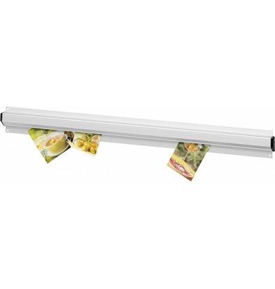 Hendi Bonnenhouder 600 mm - gesatineerd aluminium