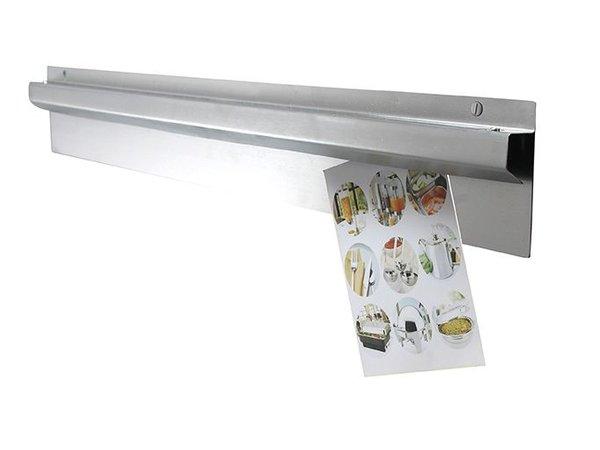Hendi Gutschein Halter 600 mm - satiniertem Aluminium