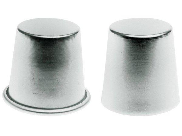 Hendi Babavorm met rand 70x68 mm - aluminium