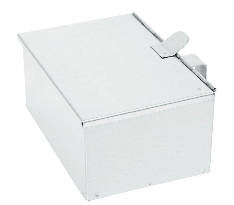 hendi asverzamelaar ss mit klappdeckel 210x140x h 90 mm. Black Bedroom Furniture Sets. Home Design Ideas