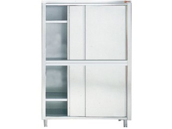 Diamond Stainless Steel Cabinet | 4 sliding doors | 1200x600x (h) 2000mm