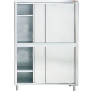 Diamond Cabinet / Porcelain Cabinet INOX - 4 Doors | 1600 (B) | 600 (D) | 2000 (H) mm