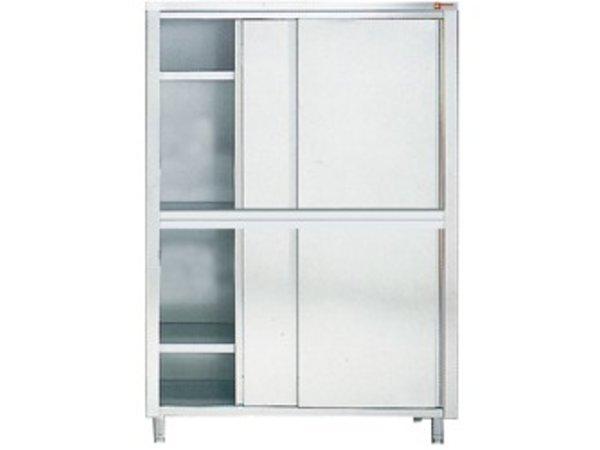 Diamond Kabinett / Porzellanschrank INOX - 4 Türen | 1600 (B) | 600 (D) | 2000 (H) mm