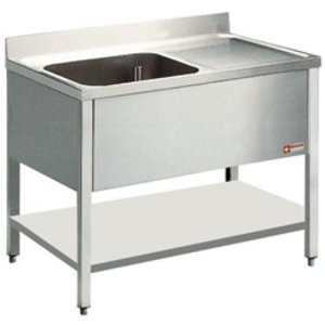 Diamond Sink - 1 Behälter - 1200x800x900 (h) - Entleeren nach links