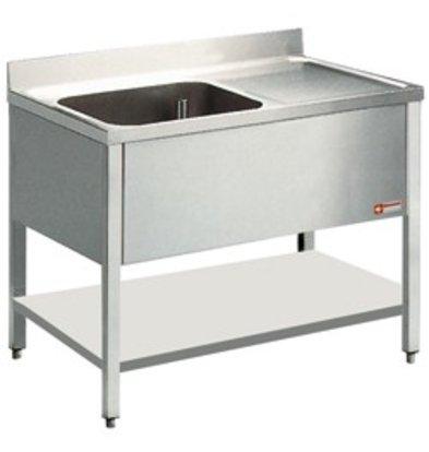 Diamond Sink - 1 Behälter - 1200x800x900 (h) - Entleeren nach links
