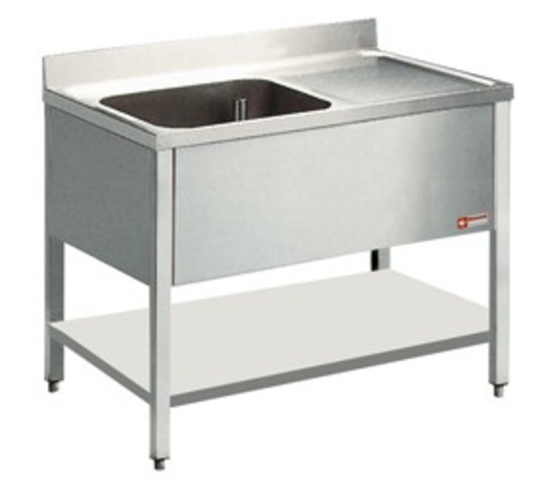 Diamond Sink - 1 container - 1200x800x900 (h) - draining left