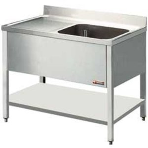 Diamond Sink - 1 Behälter - 1200x800x900 (h) - Entleerung rechts