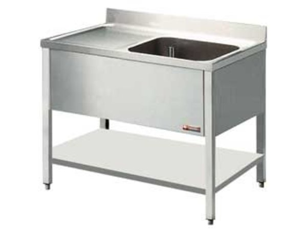 Diamond Sink - 1 Behälter - 1200x800x900 (h) - Entleerung links
