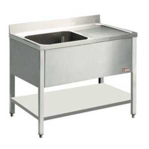 Diamond Sink INOX - 1 container - 1400x700x900 (h) - draining right