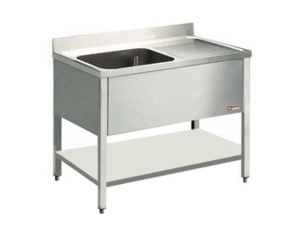 Diamond Sink INOX - 1 container - 1400x700x900 (h) - draining right