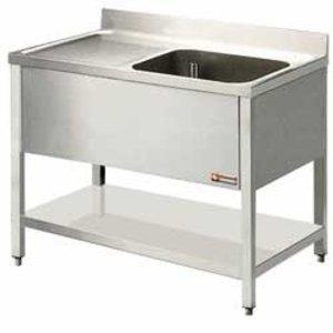 Diamond Sink Stainless Steels 1 Bak - 1400x700x900 (h) - draining Links