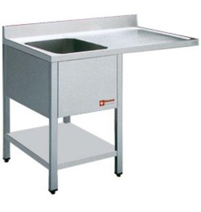 Diamond Sink - 1 Behälter - 1400x700x900 (h) - Entleerung Rechts
