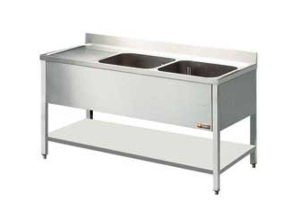 Diamond Sink - zwei Eimer 400x500x275 (H) mm - 1400x600x880-900 (h) - Ablassen Verbindungen