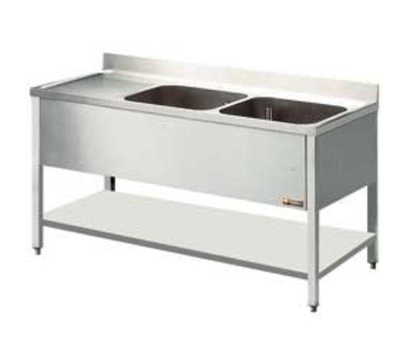 Diamond Sink - two buckets 400x500x275 (h) mm - 1400x600x880-900 (h) - draining Links
