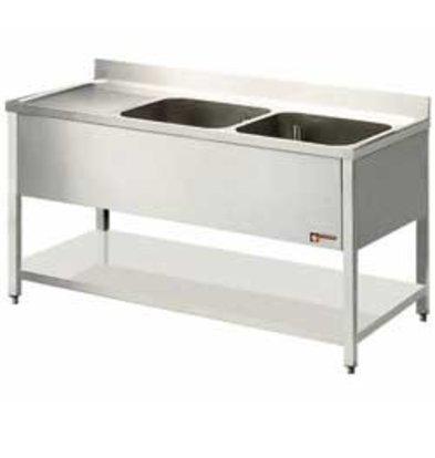 Diamond Sink - zwei Eimer 400x500x275 (H) mm - 1600x700x880-900 (h) - Ablassen Verbindungen