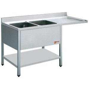 Diamond Sink - two bins - 1400x700x880-900 (h) - draining right - Space