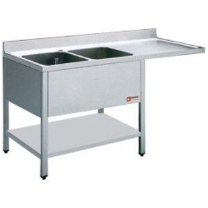 Diamond Sink - zwei Behälter - 1400x700x880-900 (h) - Entleerung rechts - Space