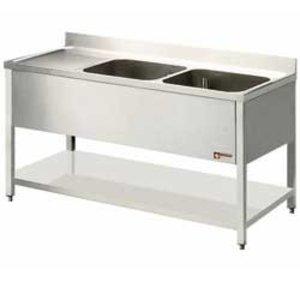 Diamond Sink INOX - 2 Buckets 600x500x325 (h) mm - 2000x700x880-900 (h) - draining Links