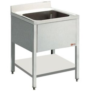 Diamond Sink INOX | 1 Sink 400x400x275 (h) | 600 (b) X900 (H) mm | 600 (d) mm