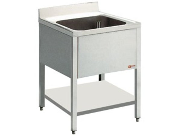 Diamond Sink INOX | 1 Sinken 400x400x275 (h) | 600 (b) X900 (H) mm | 600 (T) mm