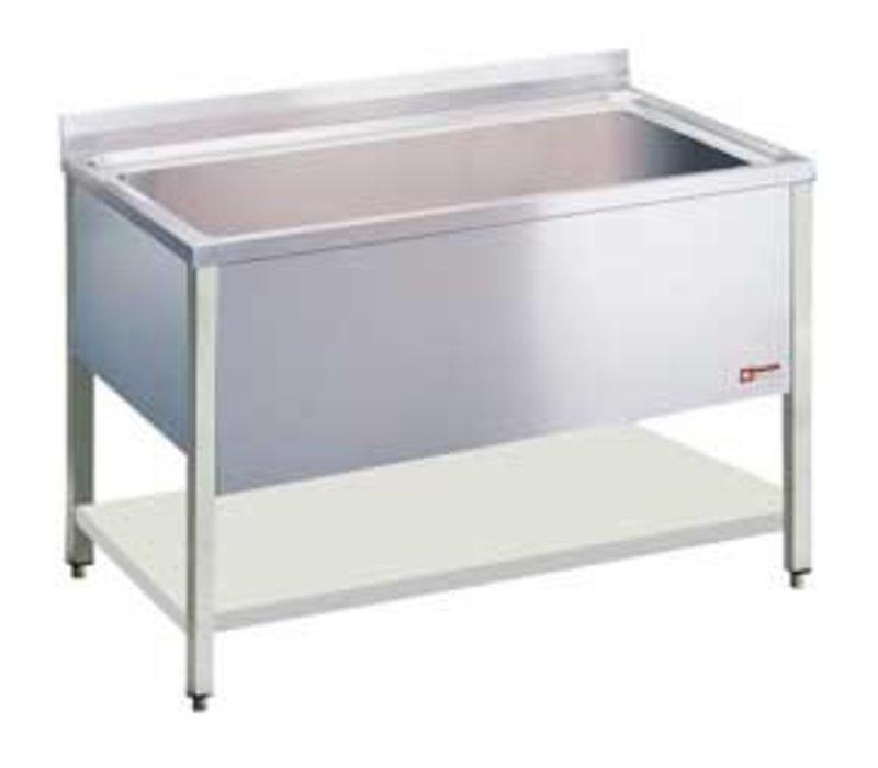 Diamond Spoeltafel INOX - 1 XL Spoelbak van 950x500x(h)400mm - 1200x700x(h)900mm