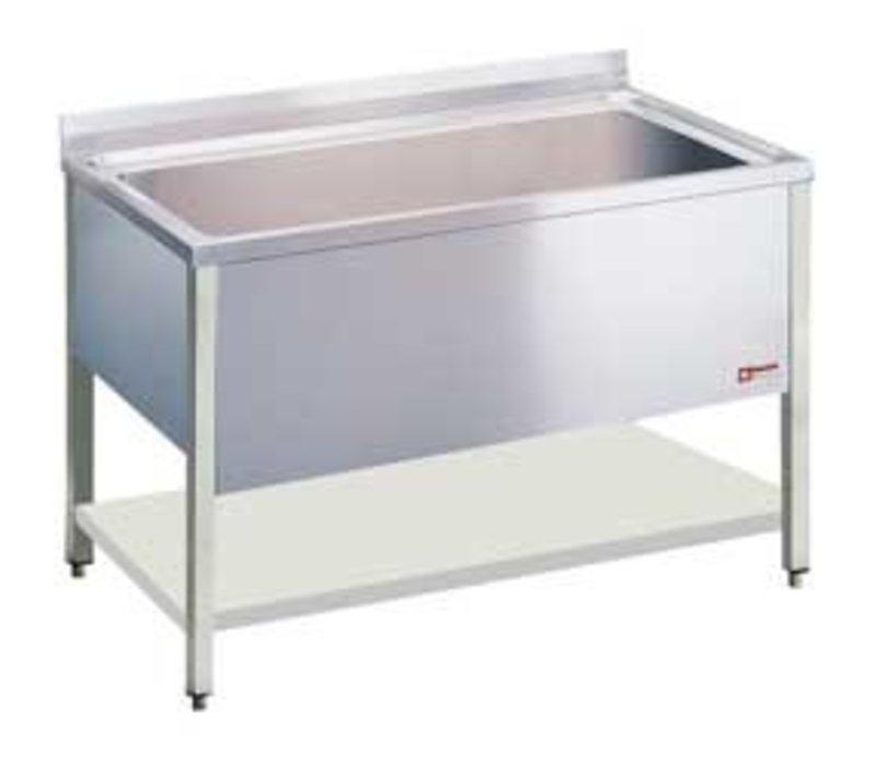 Diamond Sink INOX - 1 XXL Sink of 1400x500x400 (h) mm - 1600x700x900 (h) mm