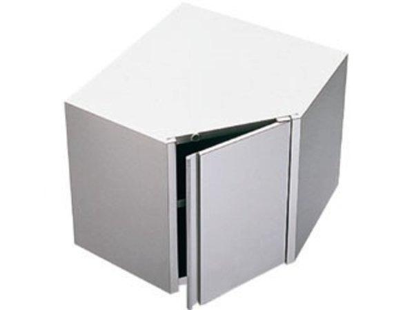 Diamond Muurhoekkast met klapdeur 700x700x600 (h)