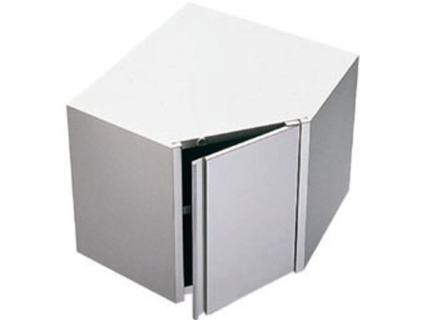 Diamond Wall Corner cabinet with folding door 700x700x600 (h)