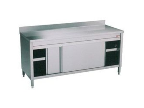 Diamond Work Cupboards with 2 Sliding Splash Edge | 1200x600x (H) 900mm