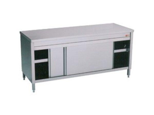 Diamond Edelstahl-Schrank mit 2 Türen | 1600x600x (H) 900mm