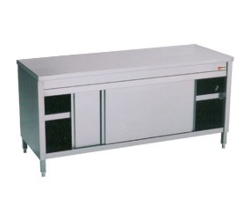 Diamond Stainless Steel Cupboard with 2 Doors   1600x700x (H) 900mm