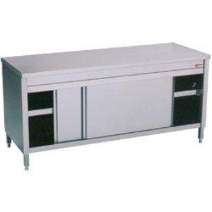 Diamond Edelstahl-Schrank mit 2 Türen | 1800x700x (H) 900mm