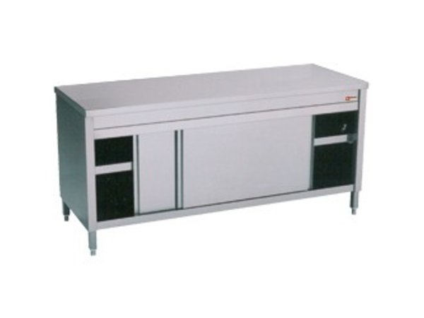 Diamond Stainless Steel Cupboard with 2 Doors | 1800x700x (H) 900mm