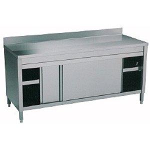 Diamond RVS Werkkast met 2 Schuifdeuren + Spatrand | 1800x700x(h)900mm