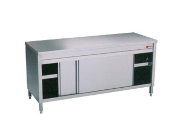 Diamond Edelstahl-Schrank mit 2 Türen | 2400x700x (H) 900mm