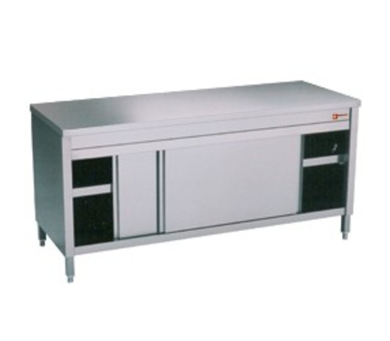Diamond Stainless Steel Cupboard with 2 Doors | 2400x700x (H) 900mm