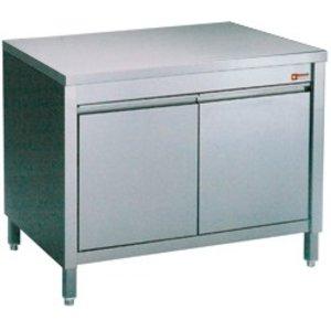 Diamond Edelstahl-Schrank mit 2 Pendeltüren | 600x700x (H) 900mm