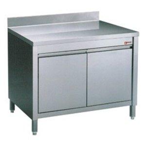 Diamond RVS Werkkast met 2 Klapdeuren + Spatrand | 600x700x(h)900mm